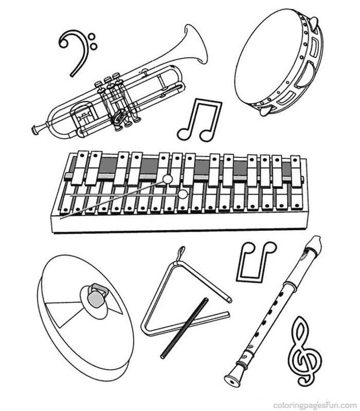 Musical Instruments Coloring Pages 58