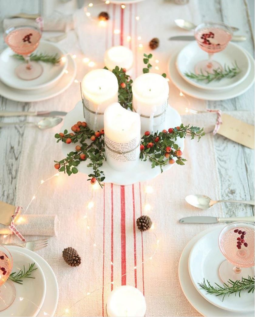 Simple Christmas Table Setting Ideas You Ll Want To Copy This Year Christmas Centerpieces Christmas Table Decorations Christmas Holidays