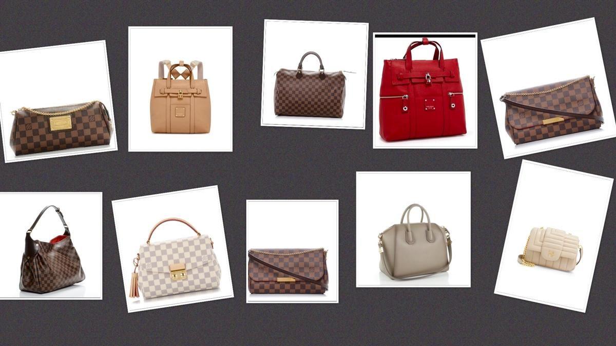 829e85055a9 Shop for Reggia Damier Ebene Canvas Shoulder Bag