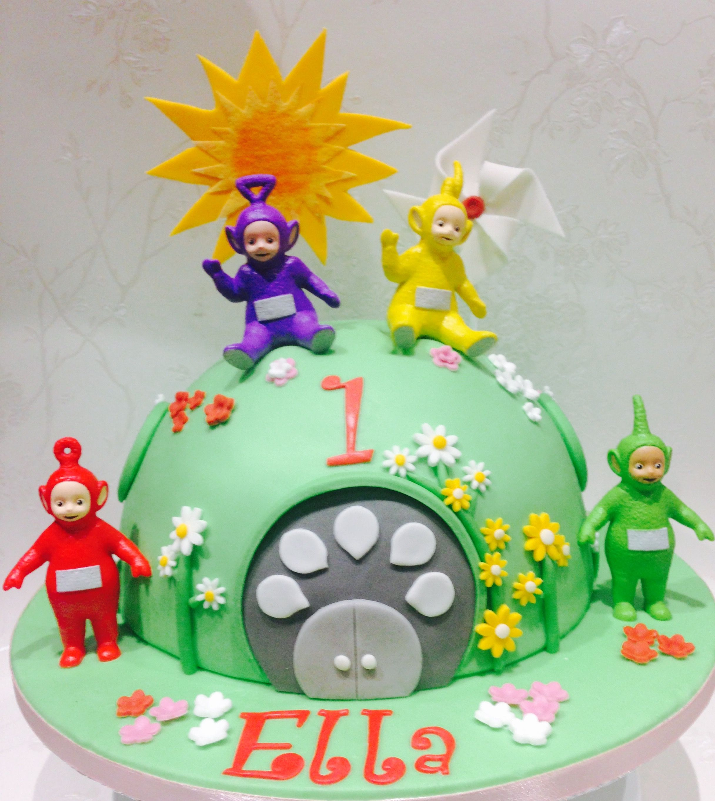 Astounding Teletubbie 1St Birthday Cake Teletubbies Birthday Cake Toddler Birthday Cards Printable Nowaargucafe Filternl