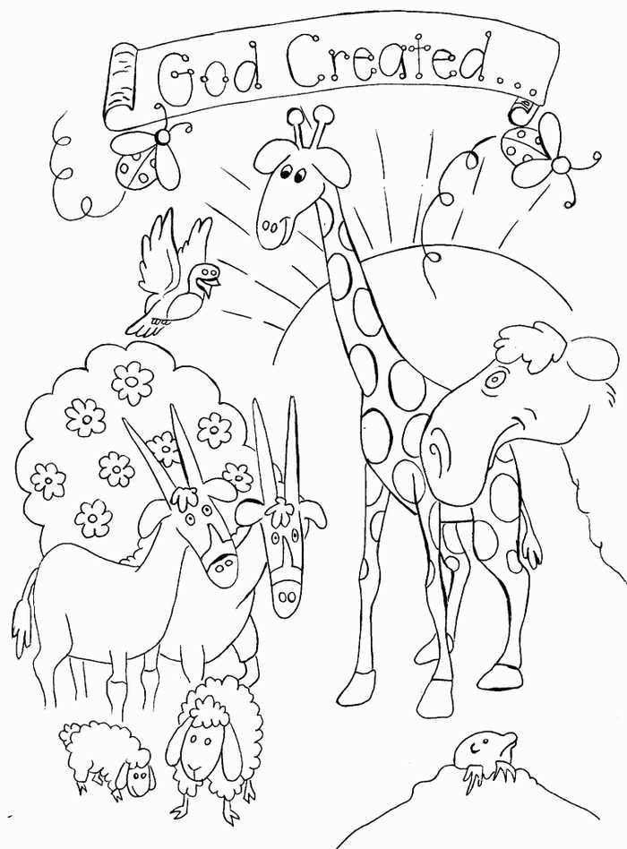 Creation Coloring Pages For Preschoolers Religious Theme