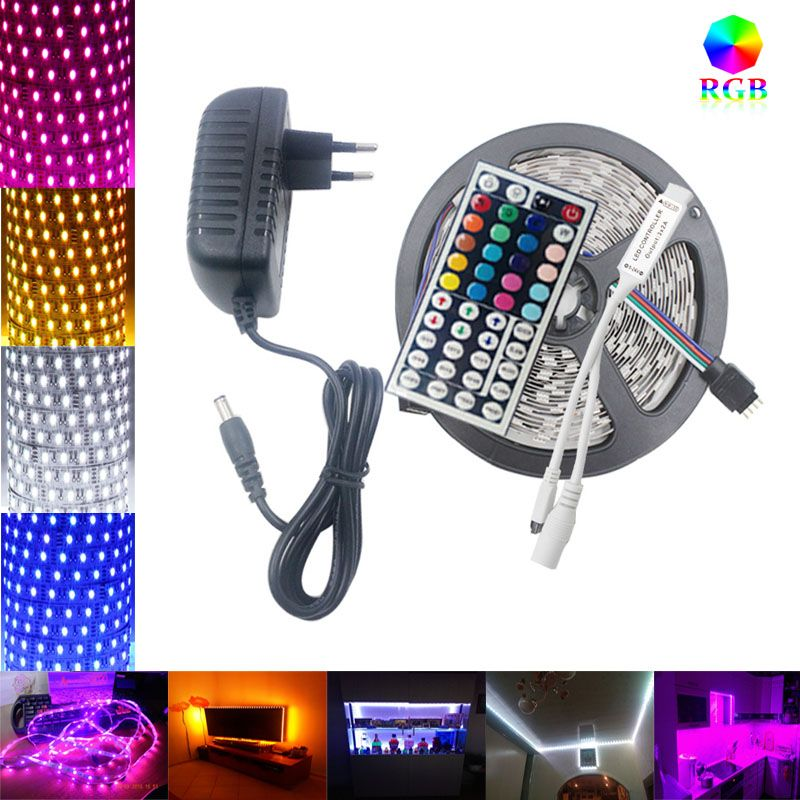 Riri Won Smd5050 Rgb Led Strip Led Light Tape Diode 220v Waterproof 60leds M Led Flexible Light Controller D Led Strip Lighting Rgb Led Strip Lights Led Lights