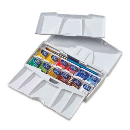 Winsor Newton Cotman Pocket Plus Watercolor Travel Set Winsor