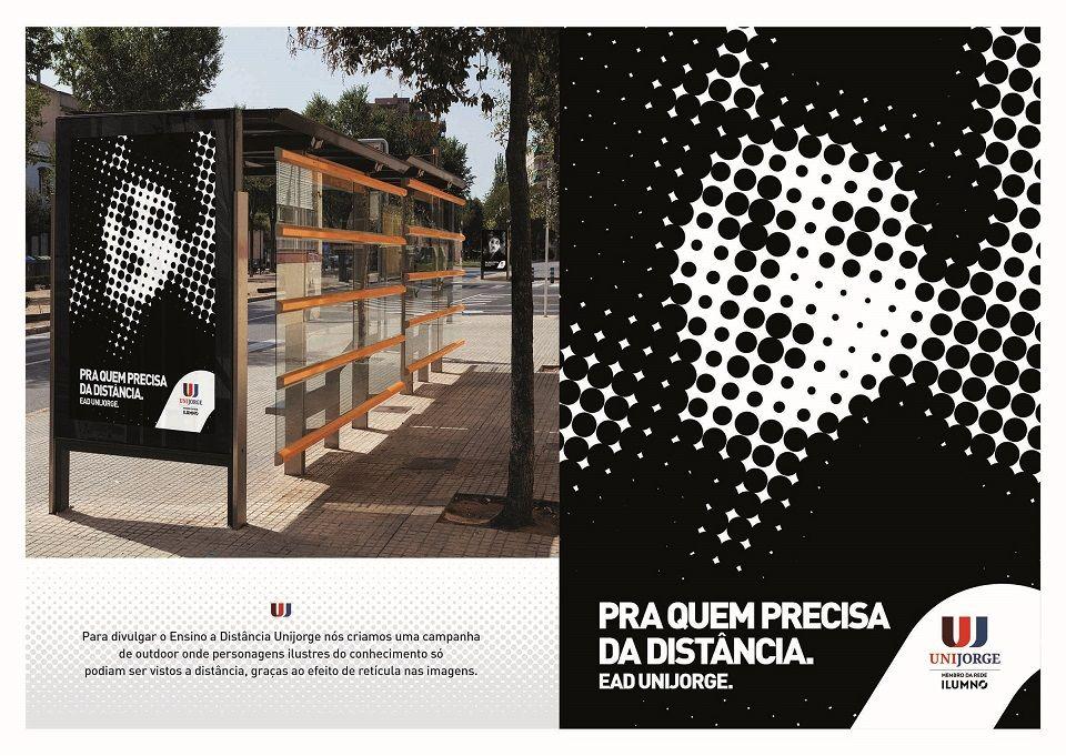 Campanha da Propeg para o EAD Unijorge só pode ser vista à distância. #Publicidade
