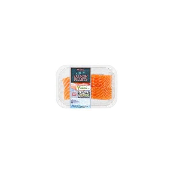 Tesco 2 Boneless Salmon Fillets 270G ($4.41) ❤ liked on Polyvore featuring foods