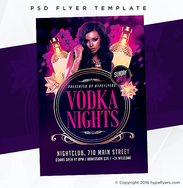 Classy Drinks Party Flyer Template  Event Template Psd Templates