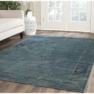 Safavieh Vintage Turquoise Oriental Viscose Rug 8 X 11 2 Vtg117 2220 Blue