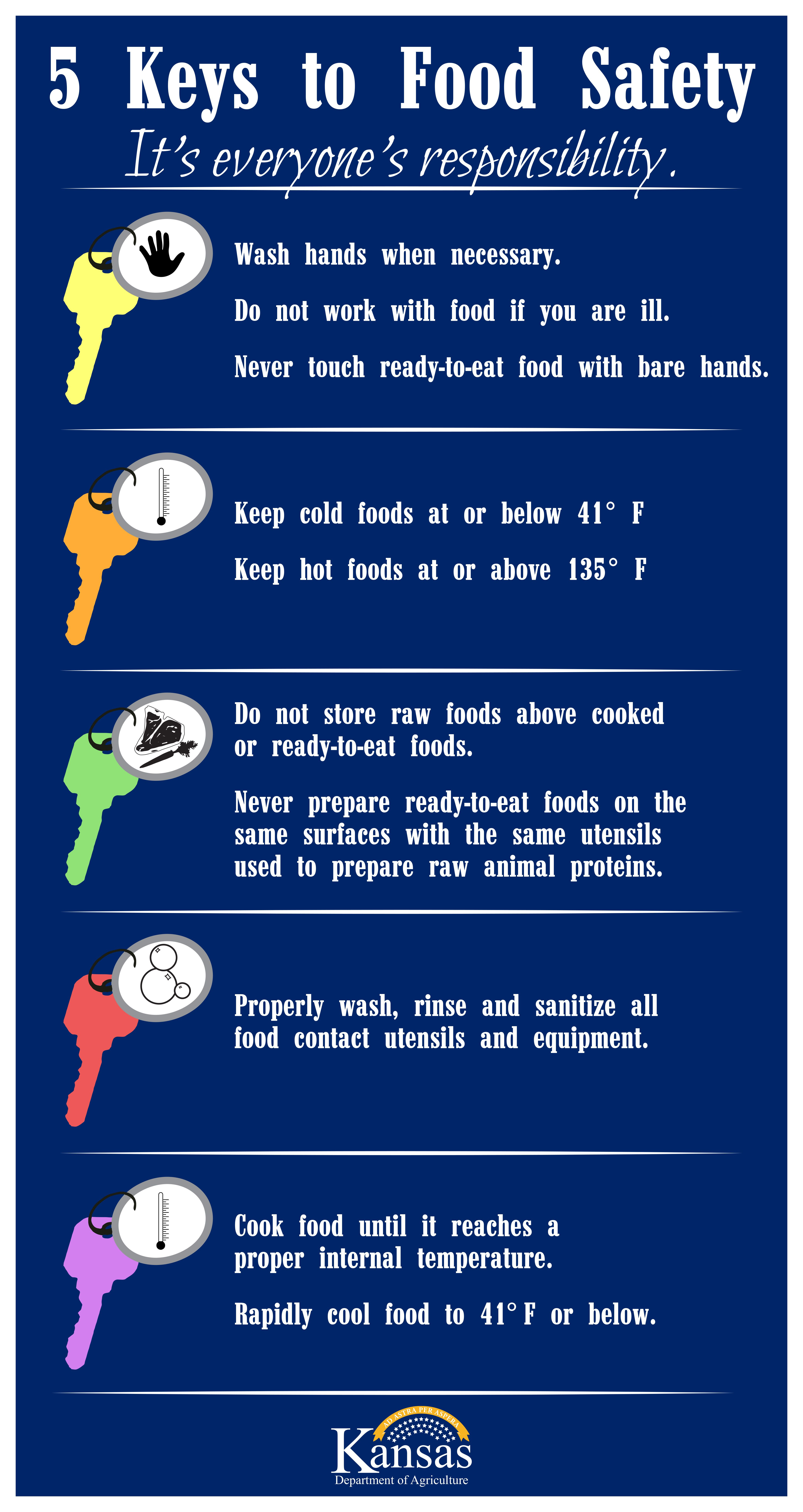 Food safety is everyones responsibility these 5 keys can