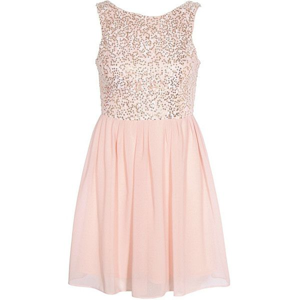 Elise Ryan Sequin Low Back Dress Pink ($56) ❤ liked on Polyvore featuring dresses, vestidos, short dresses, sequin dresses, pink sparkly dress, short sequin cocktail dresses, sequin cocktail dresses and short sparkly dresses