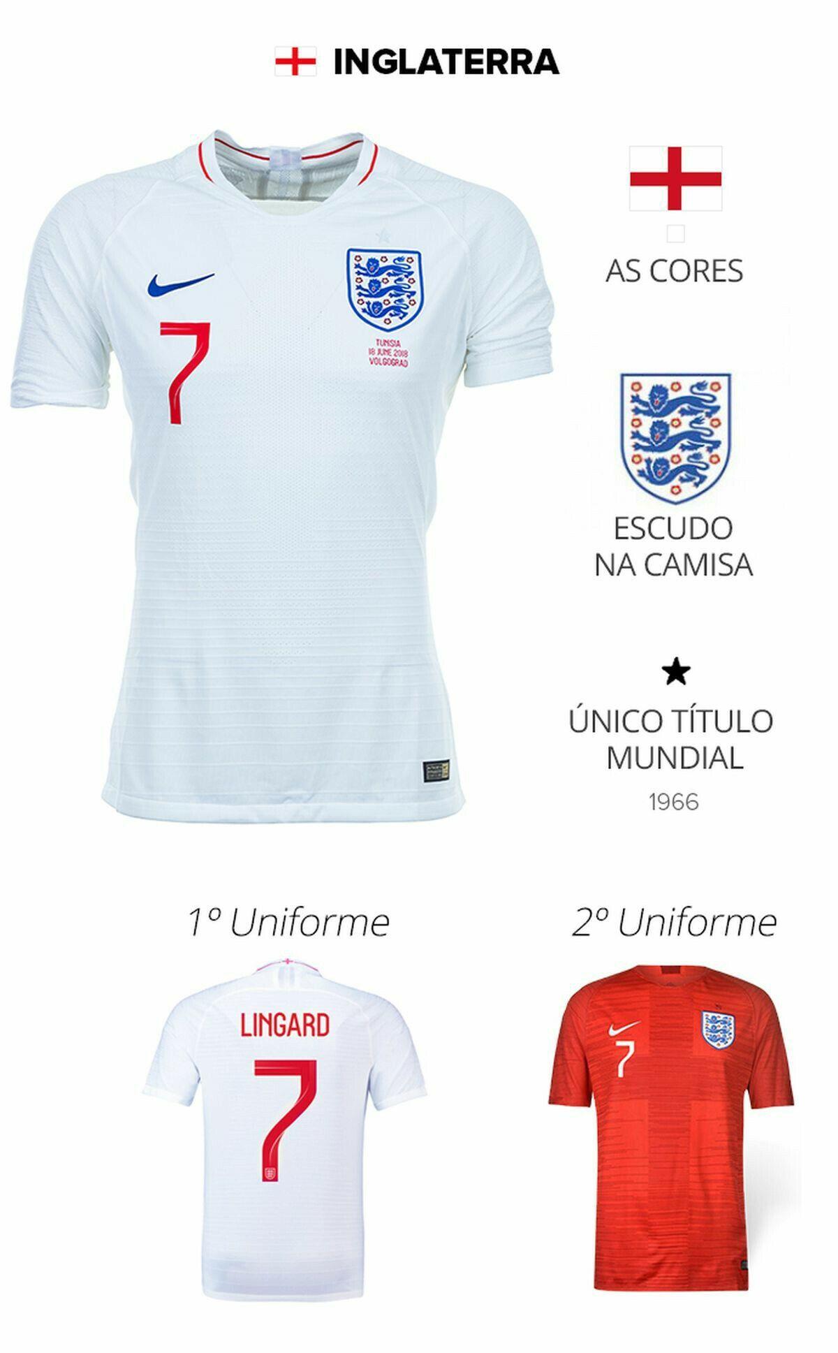 58507e684f73e Inglaterra Copa Mundo 2018