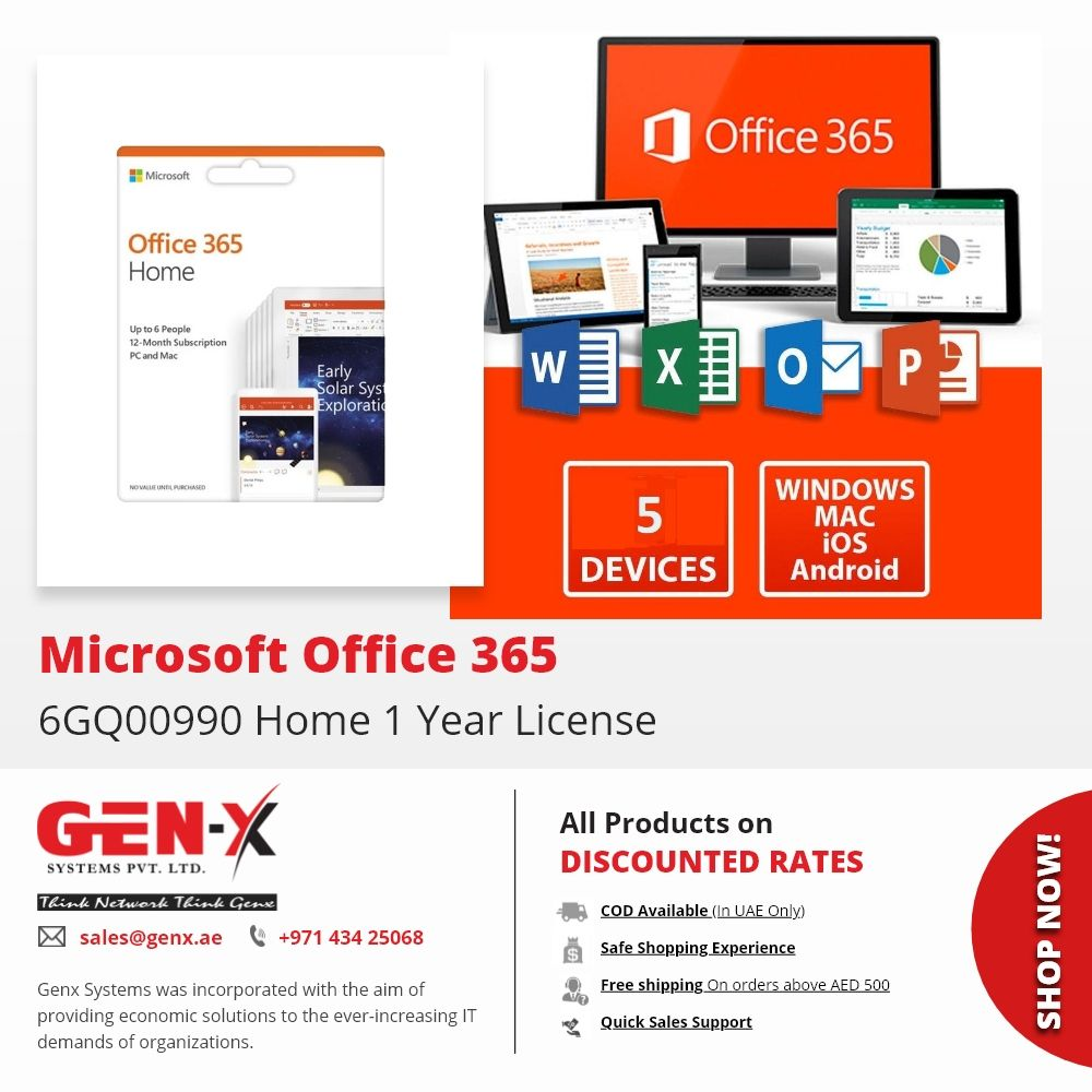 With Microsoft Office 365 Home, you and your family get