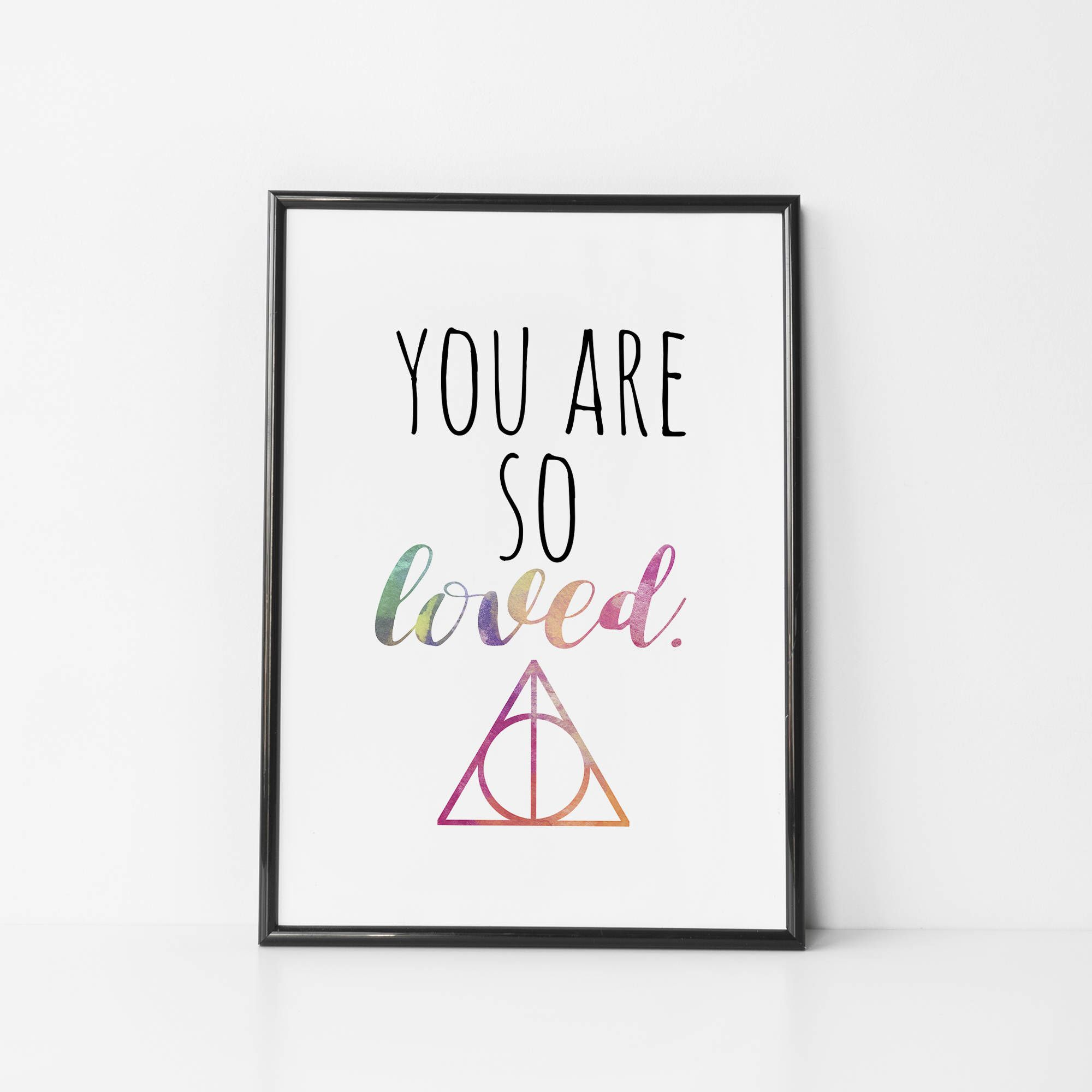 570bcd2356c Harry Potter Nursery Print - You Are so Loved - Nursery Quote - Harry Potter  Baby