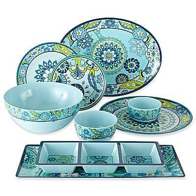 Capri Melamine Dinnerware Collection _ The modern floral print of the Capri Melamine Dinnerware Collection makes  sc 1 st  Pinterest & Capri Melamine Dinnerware Collection _ The modern floral print of ...