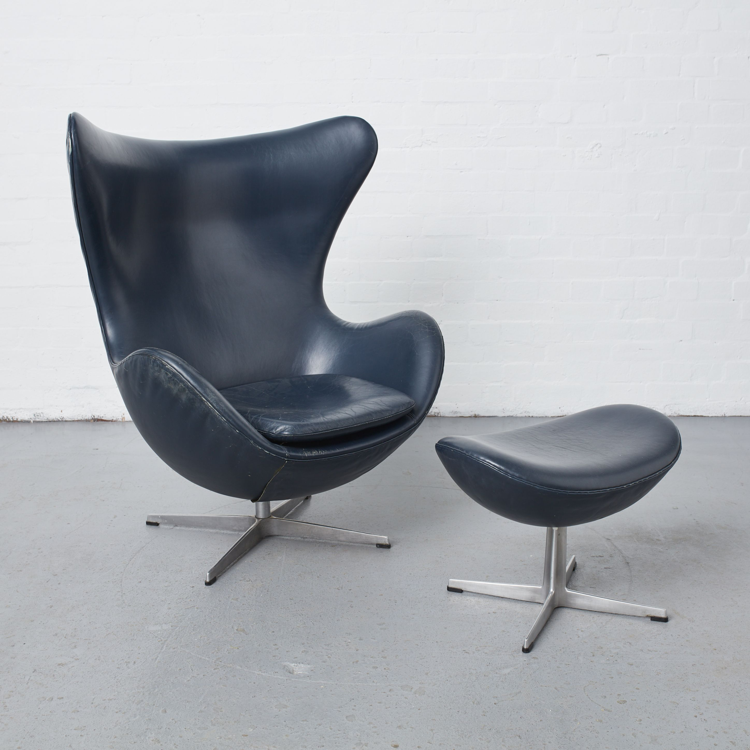 The ultimate statement chair Egg Chair and footstool