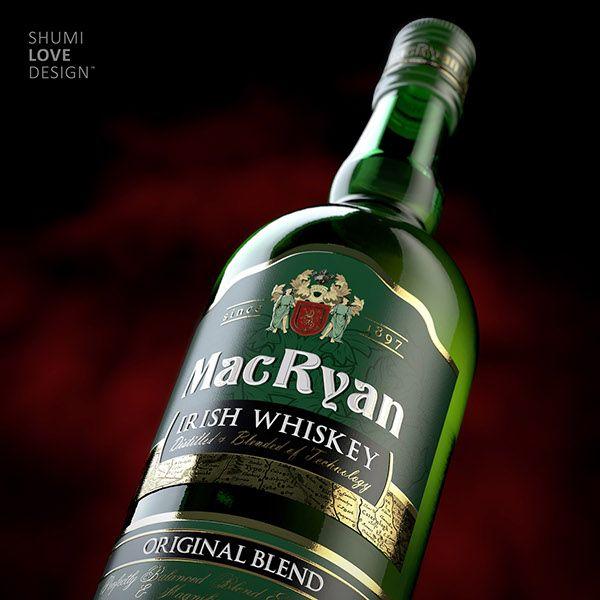 """Irish Whiskey """"McRyan"""" on Behance"""
