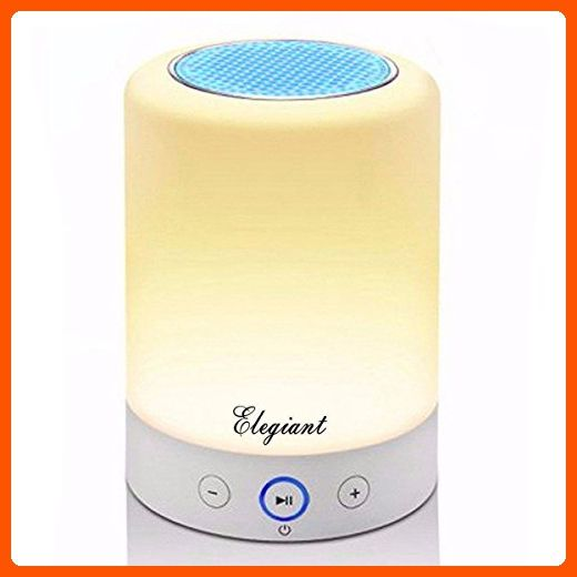 Led Lamp Speaker Elegiant Wireless Stereo Speaker Led Bluetooth Speaker Led Night Light Table Lamp With Co Wireless Stereo Speakers Led Night Light Simple Lamp