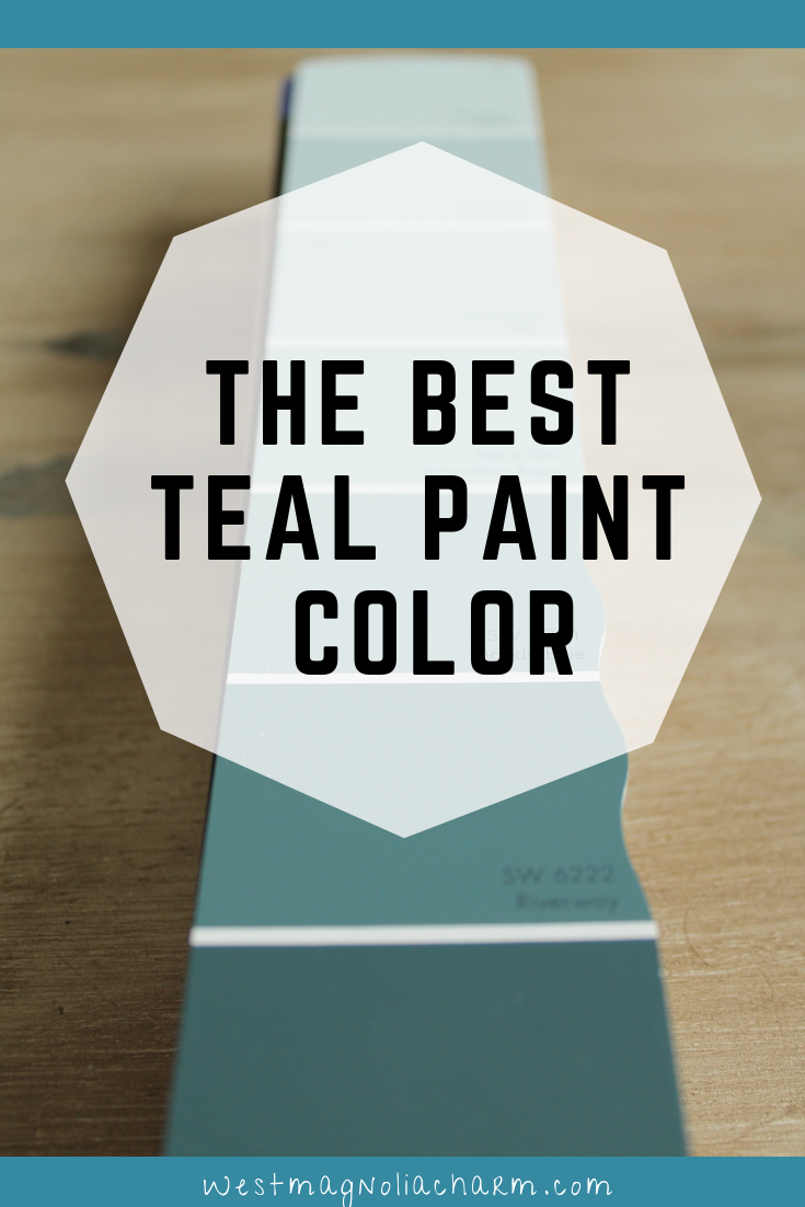 The Best Teal Paint Color -Riverway SW 6222 images