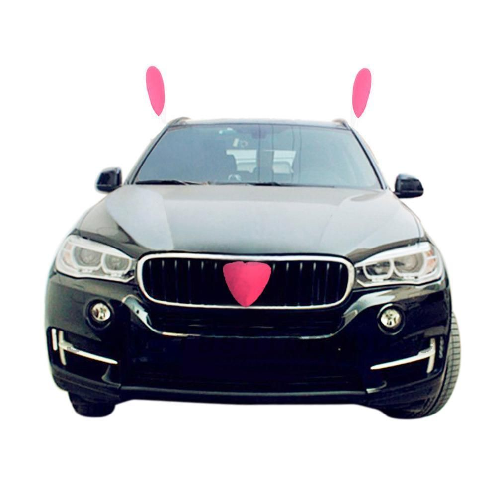 Car Decorations Easter Bunny Costume Ears and Nose for All Vehicles ...