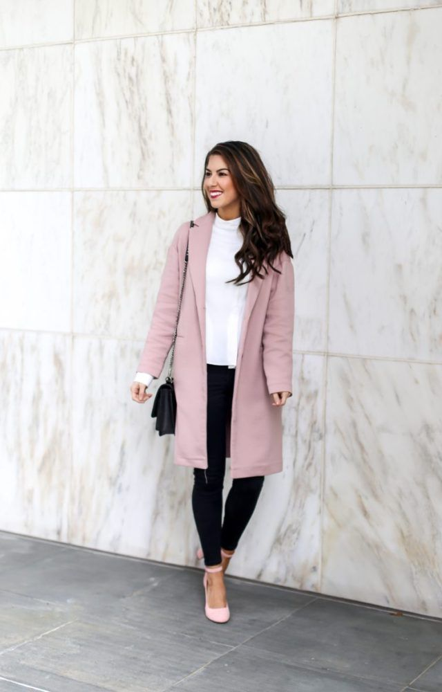 Classic Pink Coat and Blouse Style. Beautiful Blouse and Pink Coat. Work  Outfits. Outfits for Work. Work Wear. Professional Style. Early Spring  Outfits. 4dd36671f