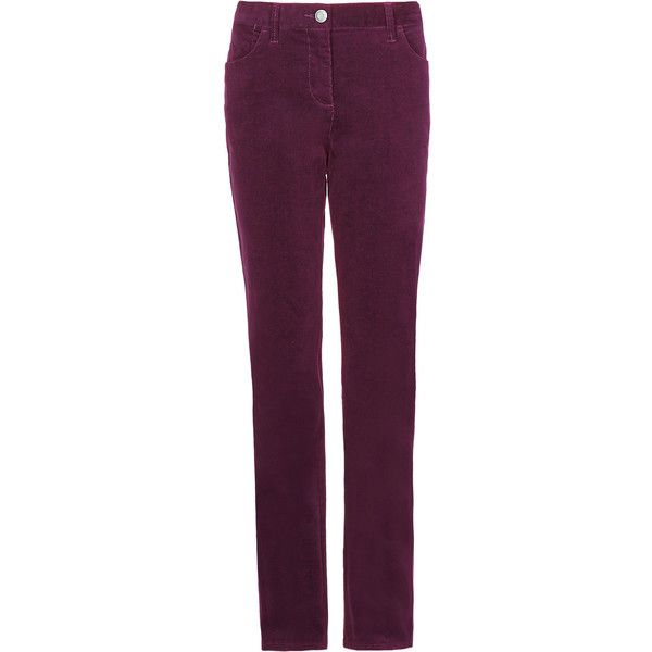4f48eb5f76b Cotton Rich Corduroy Straight Leg Trousers M S ( 30) ❤ liked on Polyvore  featuring pants