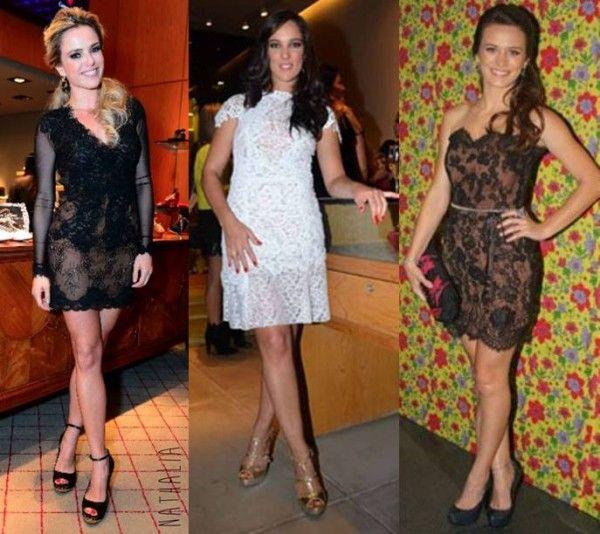 Vestidos de festa curtos com renda 2014