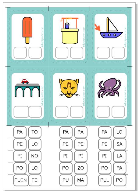 Ejercicios Construir Palabras P Silabas 6 Años Silabas Actividades Para Lectoescritura Lecciones De Lectura