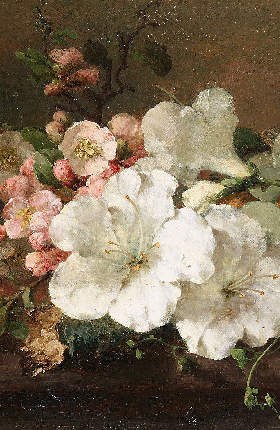 Margaretha Roosenboom Still Life With Blossom Detail Peinture