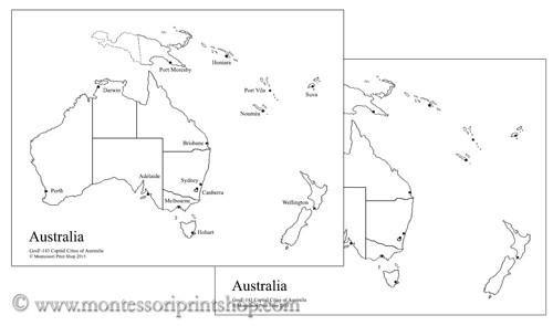 australian capital cities map