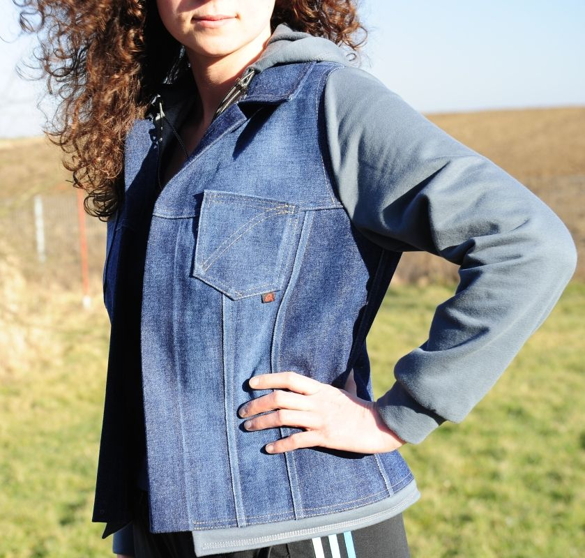 Jean Jacket With Hoody Free Pattern To Print Machine Sewing Tips
