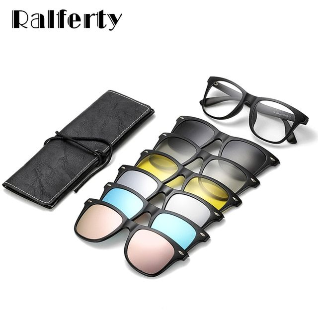 Ralferty Magnetic Sunglasses Women Clip On Sunglass Men