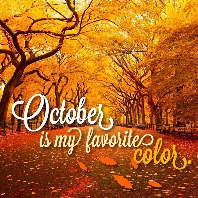 October Autumn quotes, Months in a year