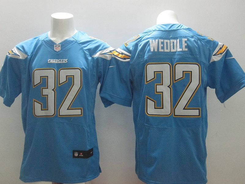 Mens Nike NFL San Diego Chargers #32 Eric Weddle L-blue Elite Jerseys