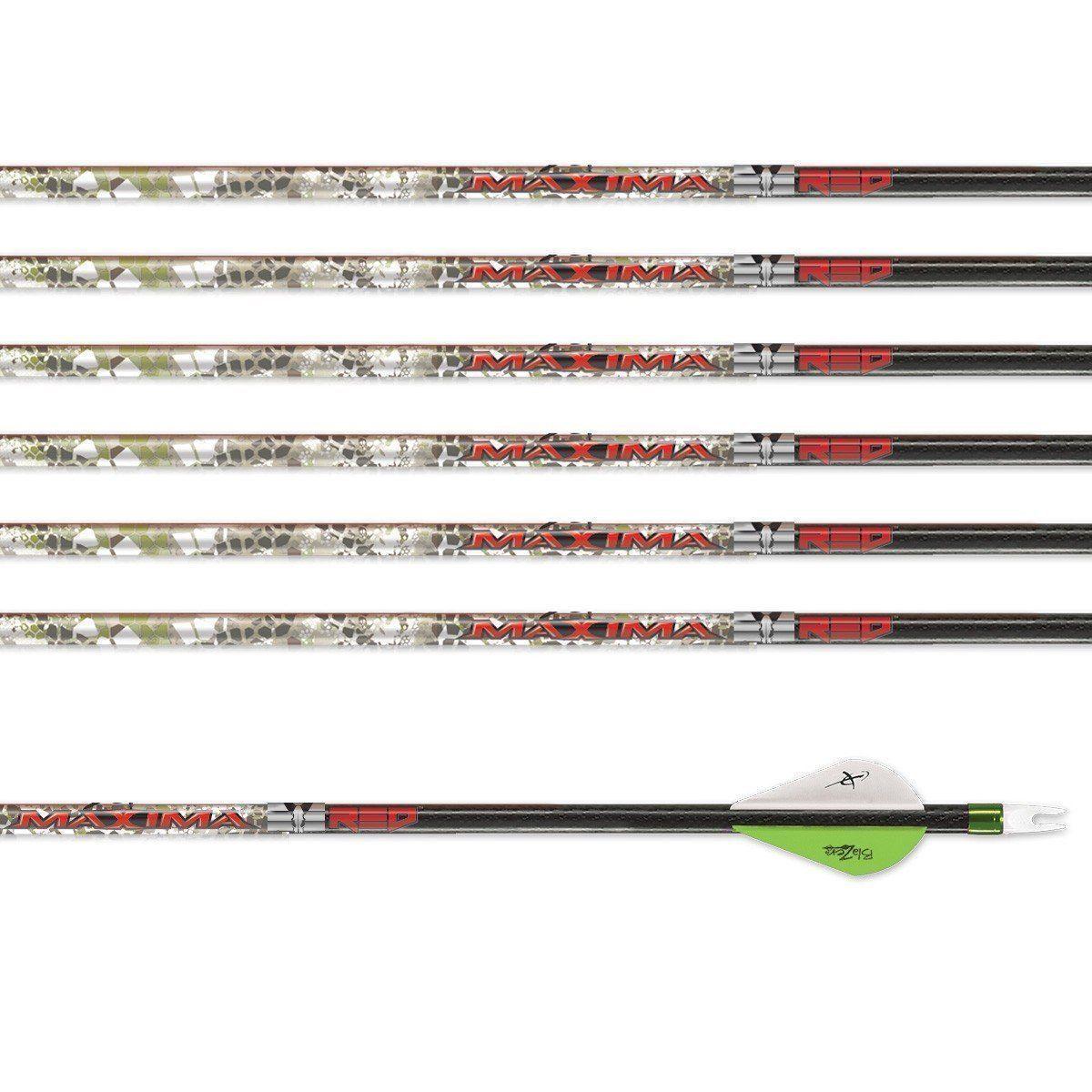 Carbon Express Arrow Maxima Red Badlands SD Blazer Vanes 6 Pack