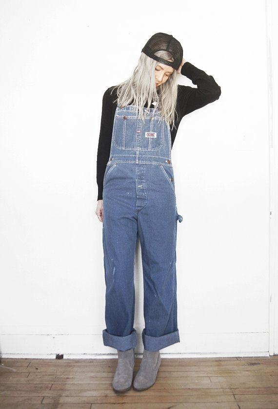 29358bbd61d Vintage Big Mac Overalls Denim Bib Overalls by ThriftyMartUSA ...