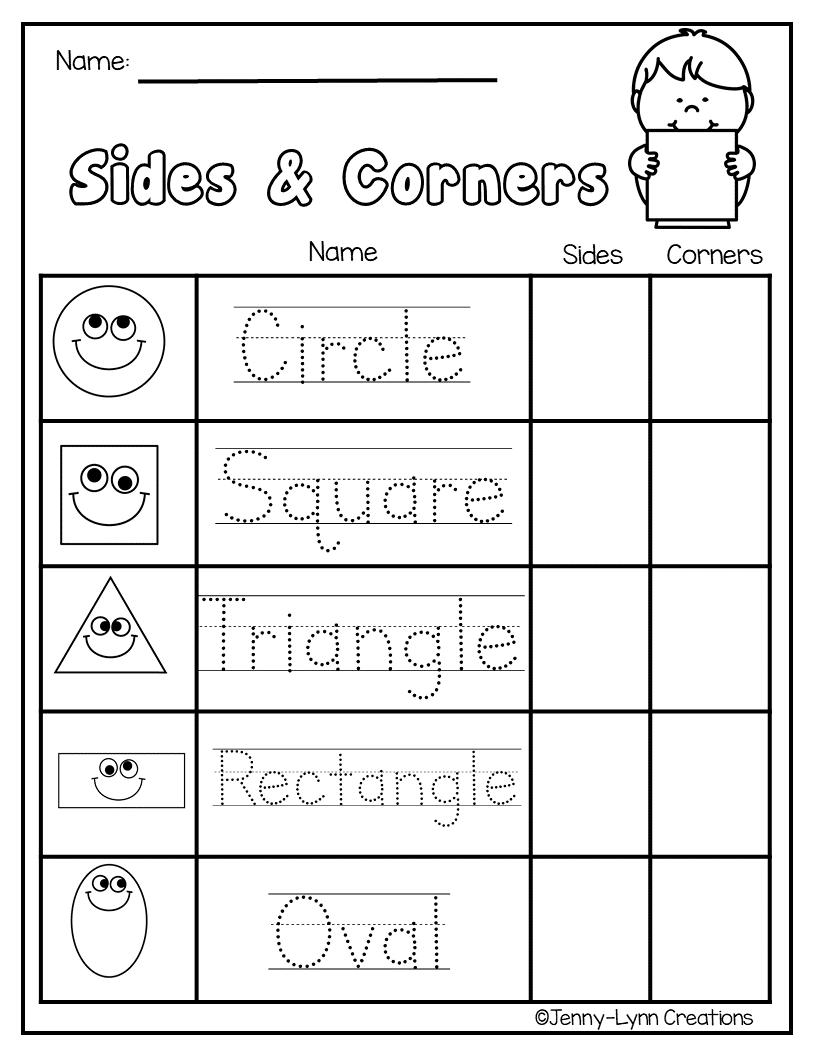 Exploring Shapes   Shape worksheets for preschool [ 1056 x 816 Pixel ]