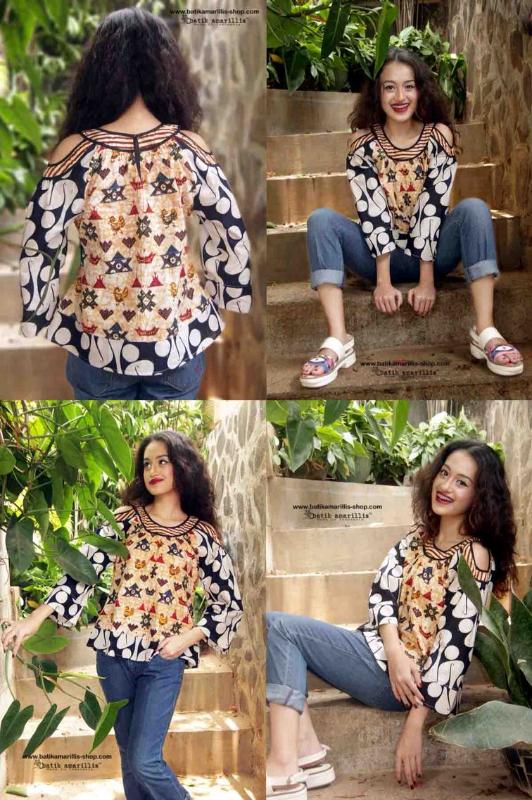 fc94dac6ae6 Batik Amarillis s painter s blouse 2-revamped More comfy