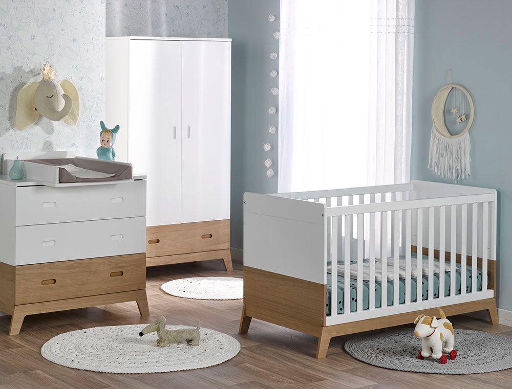 Chambre Bebe Complete Archipel Scandinave Blanc Chene Chambre