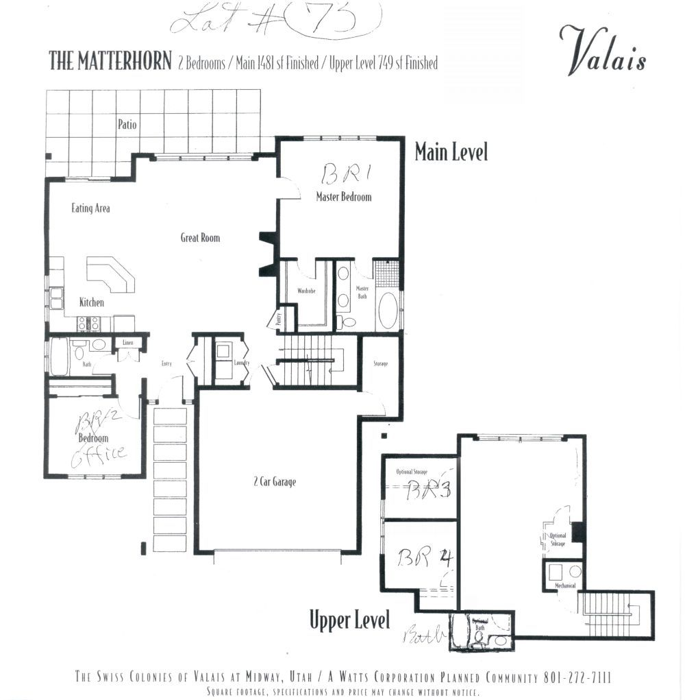 Master bedroom on first floor  floor plans   more accurate detailed floor plans click First