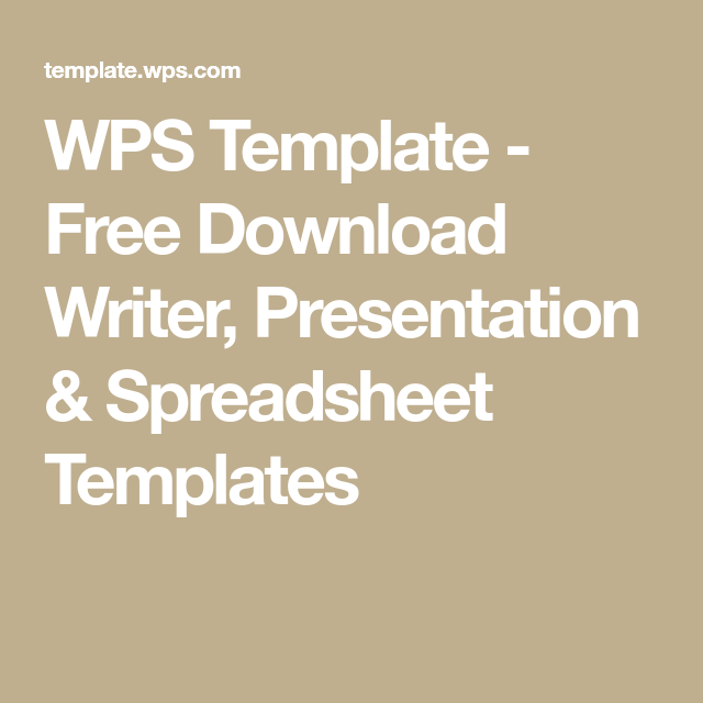 Wps Template Free Download Writer Presentation Spreadsheet Templates Downloadable Resume Template Templates Poster Invitation