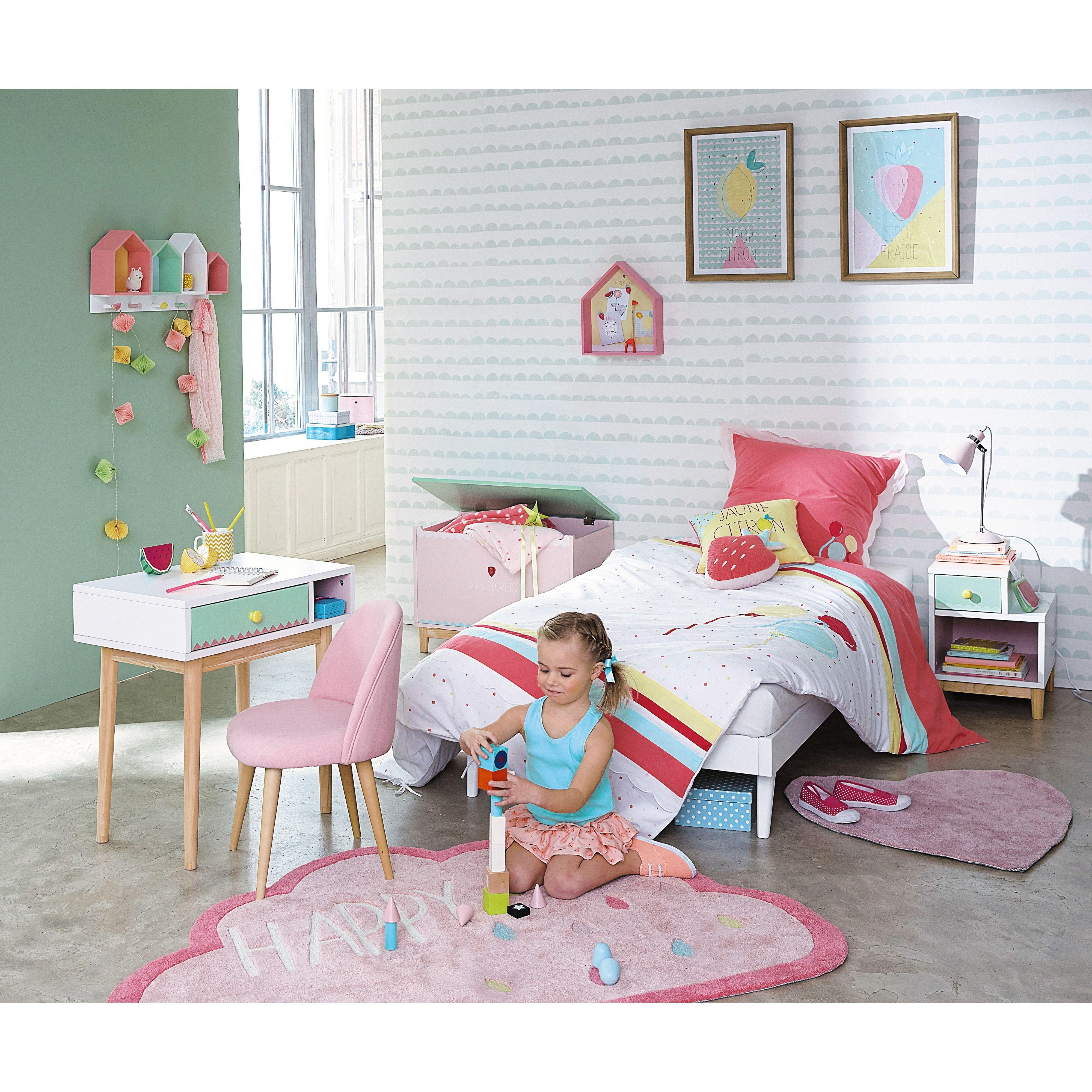 Bureau enfant blanc multicolore | Bureau enfant, Bois blanc et Berlingot