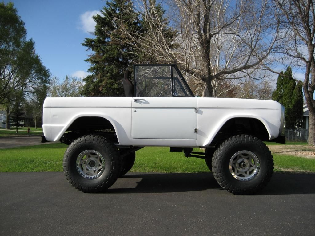 White Classic Ford Bronco On Walker Evans Wheels Ford Bronco