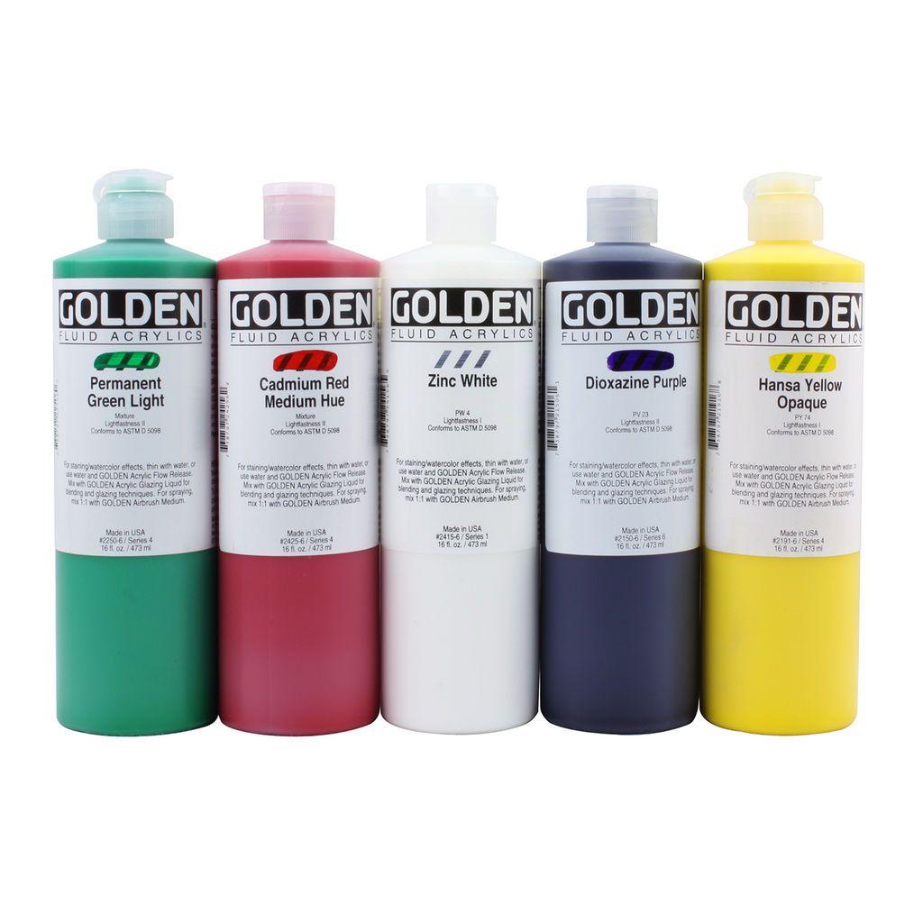 Golden Fluid Acrylics 16oz Fluid Acrylics Acrylic Golden Artist Colors