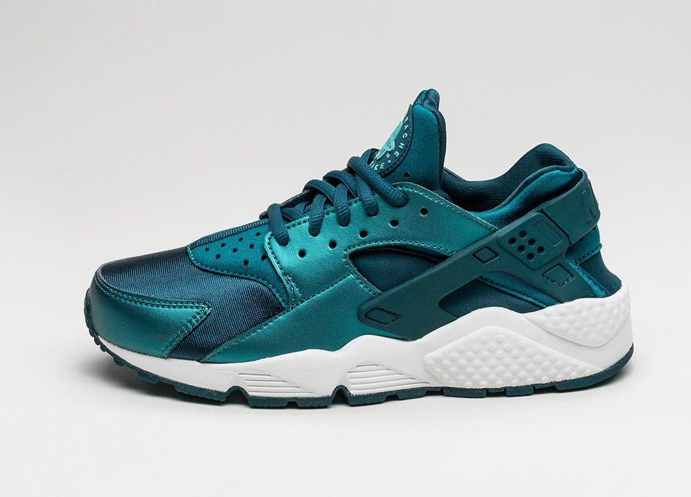 019d393807df2 Nike Wmns Air Huarache Run SE (Metallic Dark Sea   Midnight Turquoise  lpu   sneaker  dailydrops  hypesrus