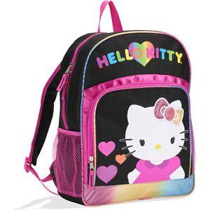 cba5bfc5f6 Hello Kitty Black Rainbow Hearts Backpack