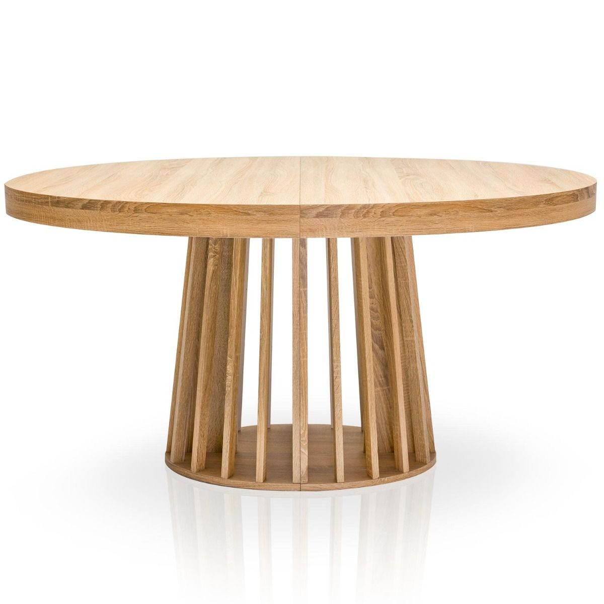 Table Ovale Extensible Eliza Chene Clair Table Ronde Extensible Table Ronde Bois Table Ovale Bois