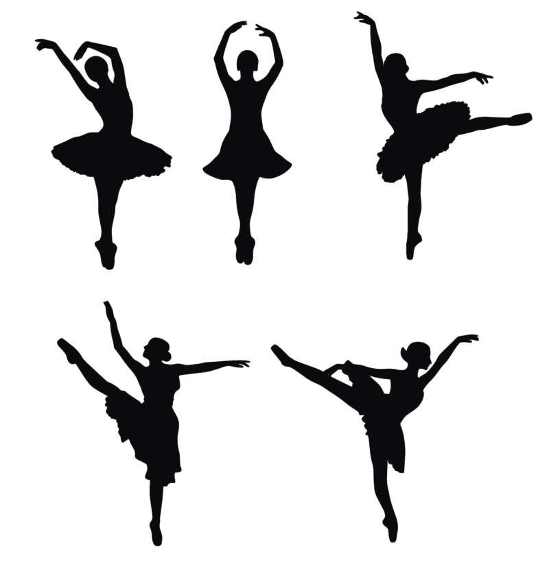 ballerina silhouettes maybe i could trace with melted chocolate to