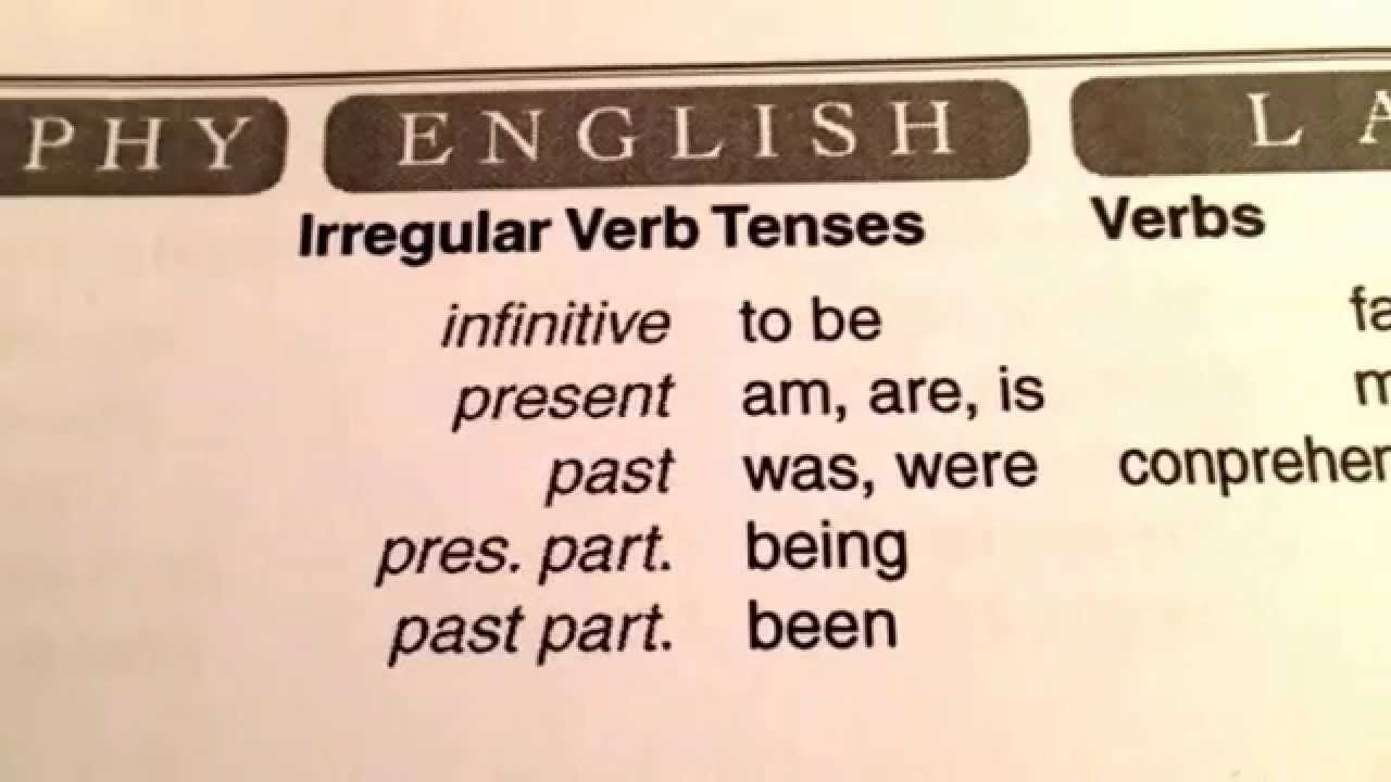 CC Cycle 3 Week 5 irregular verb tenses