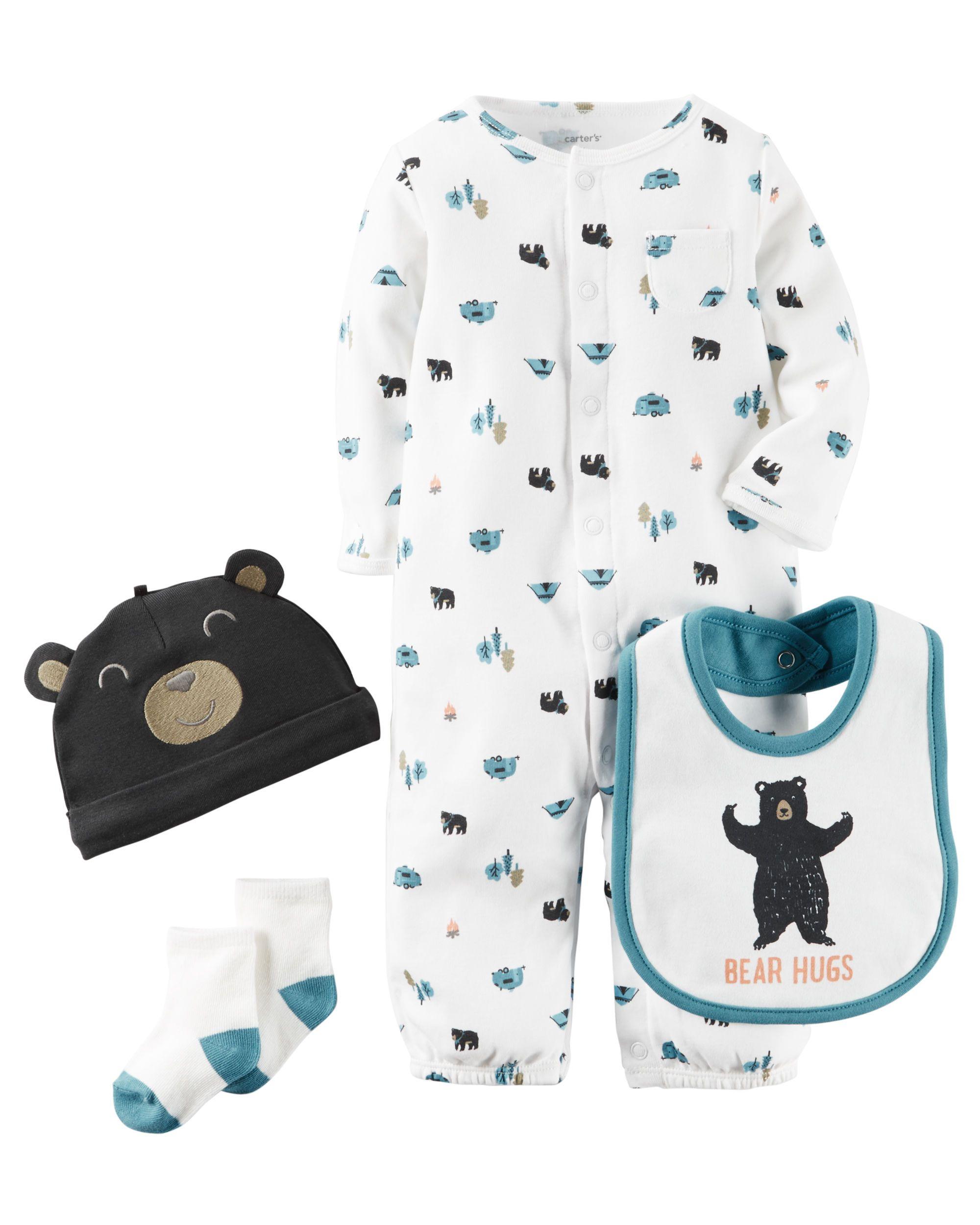 Carters Baby Boys 3-pc Bear Take Me Home Layette Set