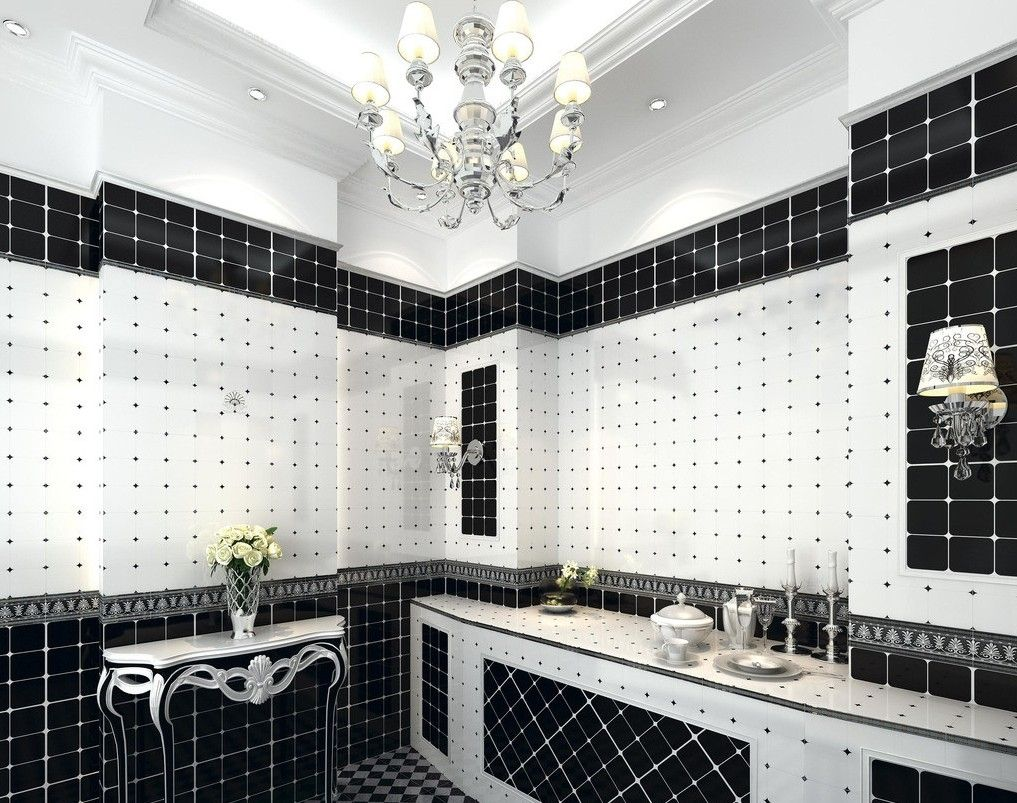 Ordinaire Black And White Kitchen Wall Tile Designs