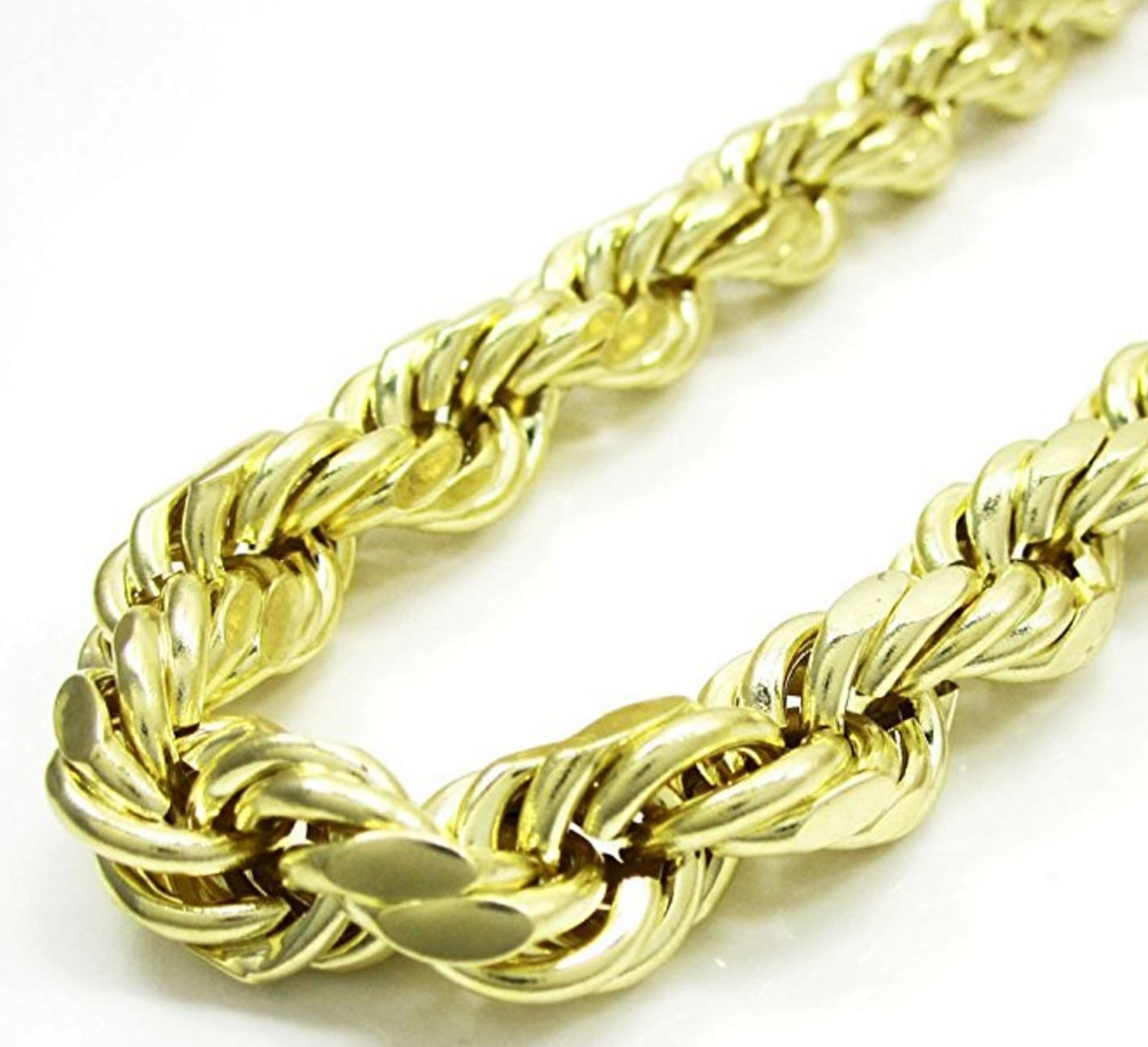 necklace hollow chain pin diamond mens chains cut gold to mm yellow womens rope men